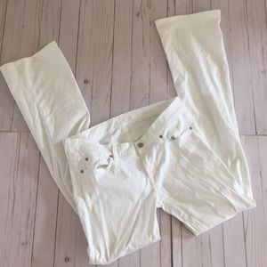 7 For All Mankind White Jeans Bootcut 30